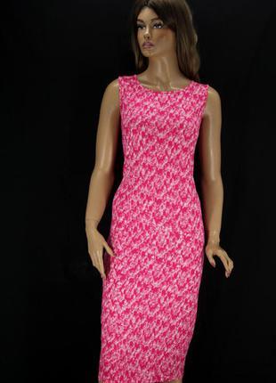Брендовое вискозное платье-майка миди next с принтом. размер uk18 eur46.