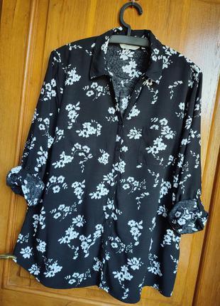 Натуральная рубашка большого размера, размер 20