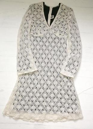 Оригинальное вязанное  платье