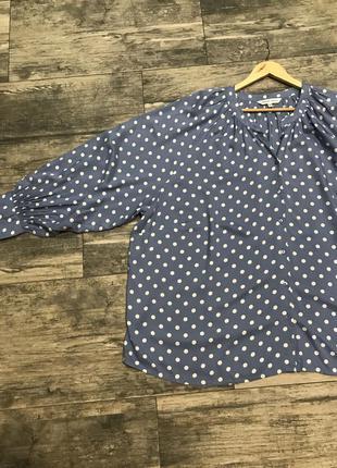 Шикарная блузка в горох 28-30 размер ❤️❤️667