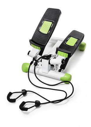 Степпер поворотный (мини-степпер) с эспандерами 4fizjo 4fj0213 white/green