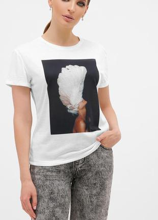 Glem черный-перья белые футболка boy-2