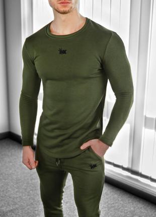 Мужской пуловер хаки