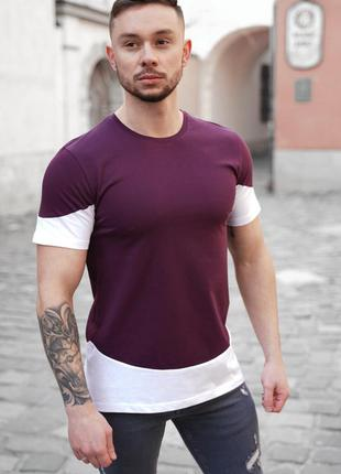 Мужская футболка бордовая