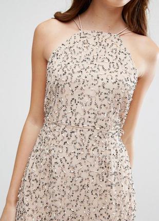 Asos блестящее платье в пайетки роскошь