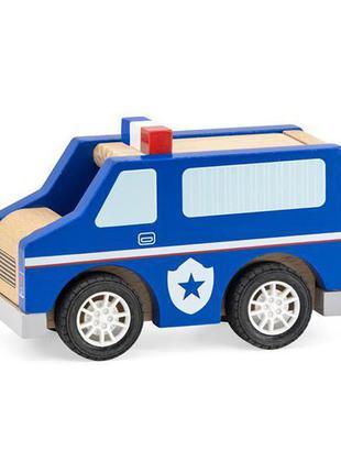 Деревянная машинка viga toys полицейская (44513)
