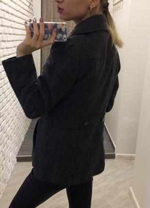 Шерстяное пальто бушлат !3