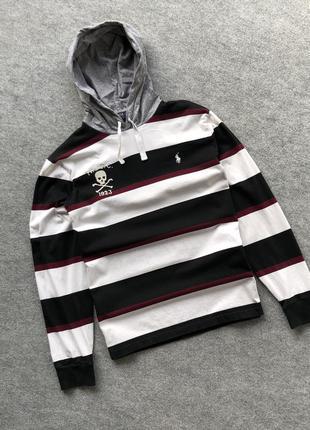 Легке базове худі від polo by ralph lauren rlfc 1923 hoodie black/white