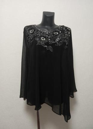 Воздушная асиметричная блуза