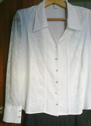 Блузка нарядная большого размера