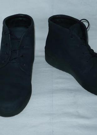 Ecco оригинал португалия ботинки кожаные нубук утеплённые