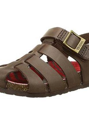 Кожаные босоножки сандалии kickers