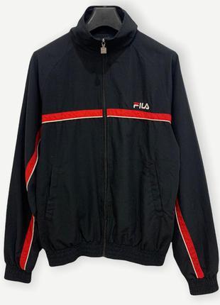 Куртка вітровка fila спортивна ветровка чоловіча чорна