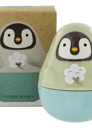Крем для рук с ароматом хлопка etude house missing u hand cream fairy penguin, 30 мл