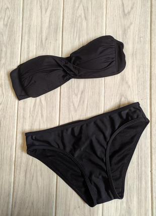 Черный купальник бандо маленького размера подростковый