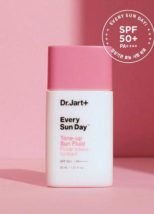 Солнцезащитный крем осветляющий с ниацинамидом dr. jart+ every sun day tone-up sunscreen spf50+ pa+++, 30 мл