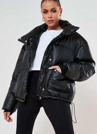 Зимняя куртка из экокожи missguided,uk 14