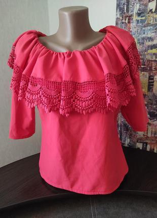 Блуза с воланом ,очень стильная😍