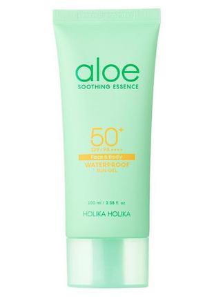Солнцезащитный гель-эссенция с алоэ holika holika aloe soothing essence waterproof sun gel spf50+