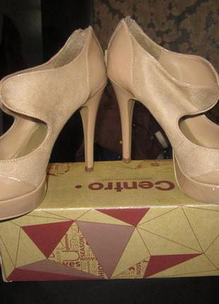 Босоножки (туфли) бежевые new look  38р(24,5см)