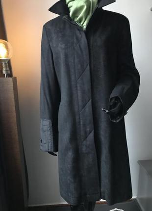Пальто бойфренд oversize шерсть кашемир винтаж бренда loft