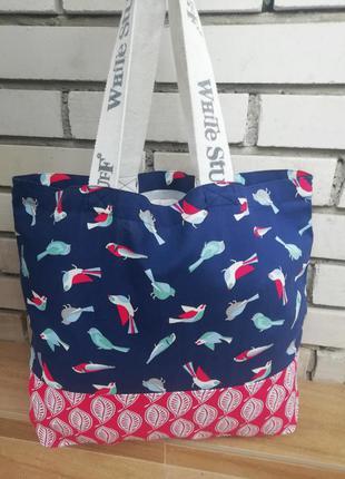 Нова фірмова англійська сумка шоппер white stuff!!! оригінал!!!!