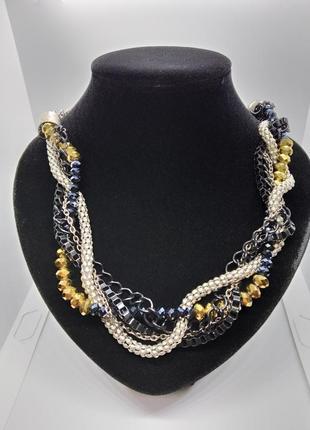 Колье ожерелье многослойное