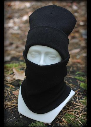 Зимний комплект шапка+бафф (без лого) black