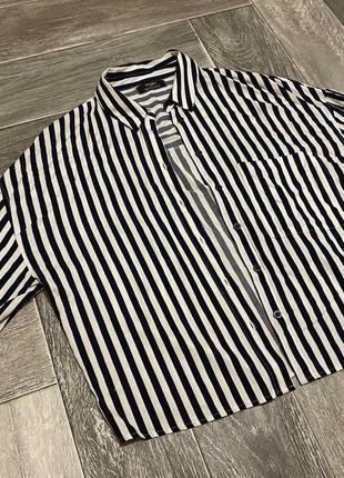 Полосатая рубашка bershka