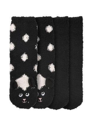 🐑набор - 2 пары плюшевых теплых носков с тормозками gina benotti