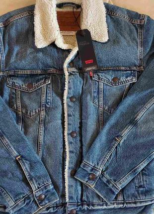 Джинсовый жакет, пиджак levis premium на меху, размер c