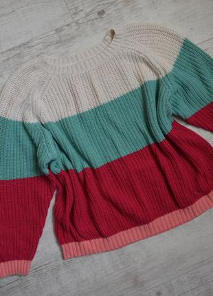 Яркий вязаный свитер next