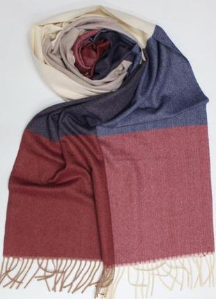 Кашеміровий теплий шарф-палантин