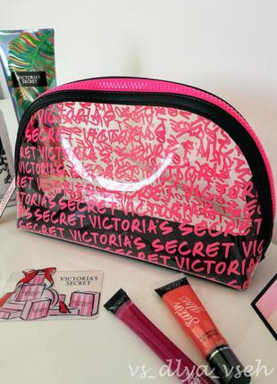 Большая удобная косметичка wicked large beauty bag victoria's secret. оригинал. сша