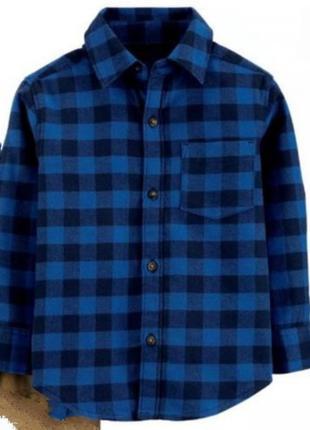Байковая фланелевая рубашка картерс 3т