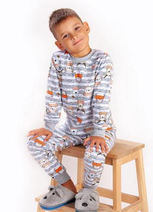 Пижама теплая для мальчика 98-122