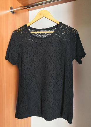 Футболка блуза гипюровая