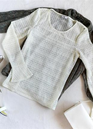 Кружевная блуза с расклешенным рукавом next