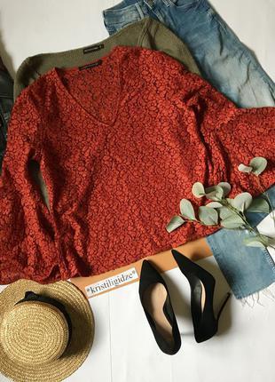 Ажурная блуза zara xl