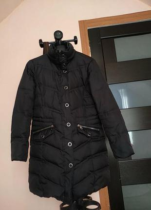 Стёганый удлинённый женский пуховик, куртка,пальто бренда esprit.50/50%пух-перо.