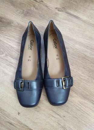 Gabor comfort шкіряні туфлі на низькому ходу