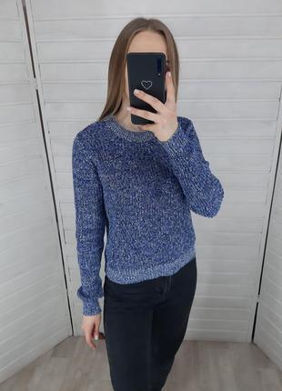 Синий свитер h&m