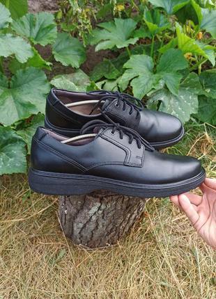 Кожаные туфлі туфли полуботинки clarks rieker 45 46 р оригінал