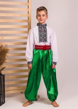 Костюм украинский для мальчиков: вышиванка, шаровары, пояс-крайка
