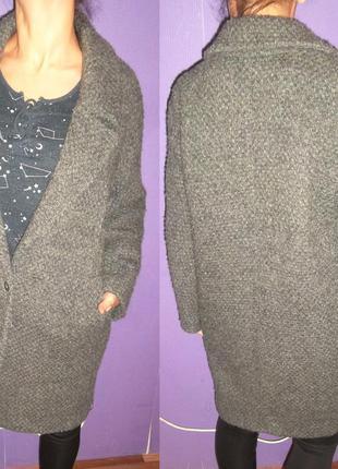Шикарное шерстяное дорогое пальто massimo dutti