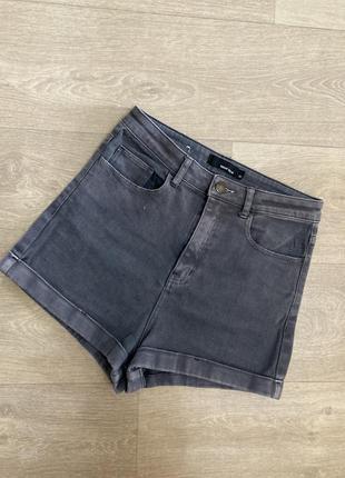🍀высокие серые джинсовые шорты tally weil