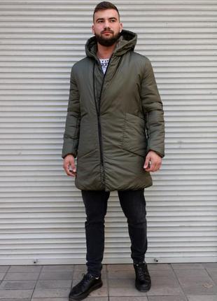 Мужская удлинённая куртка мужская одежда осень весна лето зима