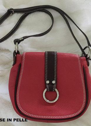 Красная кожаная сумочка