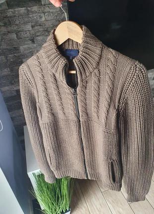 Lanvin оригинал кардиган свитер на молнии 100% шерсть ( max mara * jil sander