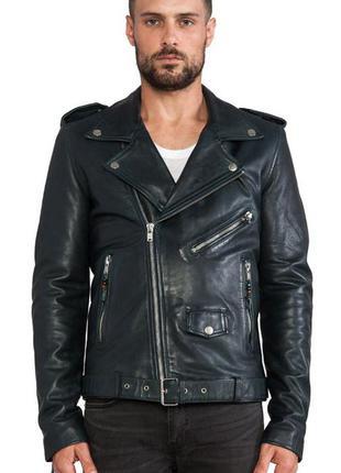 Шкіряна кожаная куртка косуха blk dnm biker jacket - s